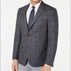 Men's Michael Kors Classic Windowpane Grey Plaid